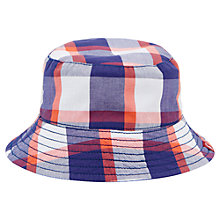 Buy Baby Joule Brit Check Reversible Sun Hat, Blue/Multi Online at johnlewis.com