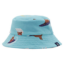Buy Baby Joule Brit Surfing Dog Print Reversible Sun Hat, Teal/Brown Online at johnlewis.com