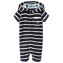 Buy Baby Joule Rockpooler Stripe Towelling Playsuit, Navy/White Online at johnlewis.com