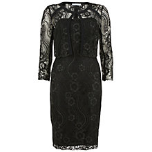 Buy Gina Bacconi Floral Cord Embroidery Dress And Jacket, Black Online at johnlewis.com