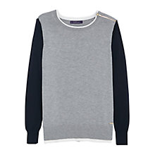 Buy Violeta by Mango Zip Shoulder Jumper, Medium Grey Online at johnlewis.com