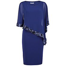 Buy Gina Bacconi Crepe Dress And Sequin Chiffon Cape, Navy Online at johnlewis.com