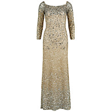 Buy Gina Bacconi Off The Shoulder Graduated Sequin Dress, Oyster Online at johnlewis.com