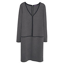 Buy Violeta by Mango Contrast Trim Dress, Dark Grey Online at johnlewis.com