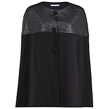 Buy Gina Bacconi Matt Sequin And Ponti Cape, Black Online at johnlewis.com