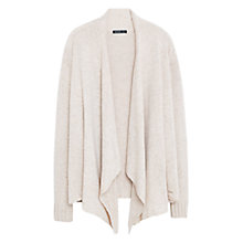 Buy Violeta by Mango Waterfall Front Wool-Blend Cardigan, Natural White Online at johnlewis.com