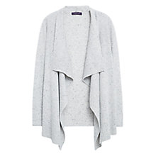 Buy Violeta by Mango Textured Waterfall Cardigan, Medium Grey Online at johnlewis.com