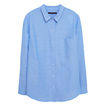 Buy Violeta by Mango Printed Cotton Shirt, Pastel Blue Online at johnlewis.com