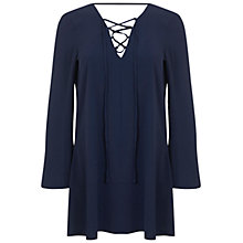 Buy Miss Selfridge Long Sleeve Lace Tunic, Navy Online at johnlewis.com
