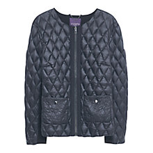 Buy Violeta by Mango Quilted Jacket, Black Online at johnlewis.com