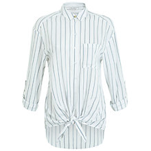 Buy Miss Selfridge Double Stripe Tie Shirt, Multi Online at johnlewis.com