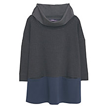 Buy Violeta by Mango Houndstooth Jumper, Dark Grey Online at johnlewis.com