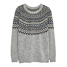 Buy Violeta by Mango Geometric Jumper, Grey Online at johnlewis.com