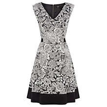 Buy Oasis Woodblock Floral Dress, Multi Online at johnlewis.com