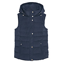 Buy Violeta by Mango Hooded Water Repellent Gilet, Navy Online at johnlewis.com