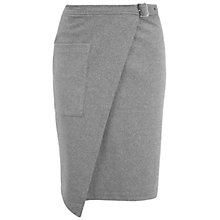 Buy Miss Selfridge Buckle Wrap Mid Skirt, Grey Online at johnlewis.com