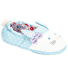 Buy John Lewis Bunny Face Closed Back Slippers Online at johnlewis.com
