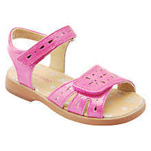 Buy Start-rite Children's Honeysuckle Rip-Tape Patent Sandals, Hot Pink Online at johnlewis.com