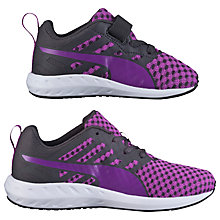 Buy Puma Flare V Children's Trainers, Purple/Grey Online at johnlewis.com