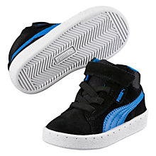 Buy Puma Children's 1948 Mid Top Trainers, Black/Blue Online at johnlewis.com