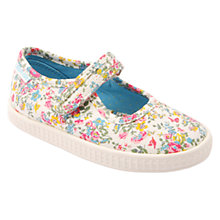 Buy Start-rite Children's Floral Canvas Rip-Tape Shoes, Multi Online at johnlewis.com