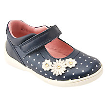 Buy Start-rite Children's Super Soft Daisy Rip-Tape Shoes, Navy/White Online at johnlewis.com