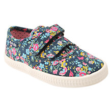 Buy Start-rite Children's Wildflower Rip-Tape Canvas Shoes, Multi Floral Online at johnlewis.com