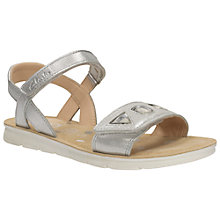Buy Clarks Children's Mimo Magic Rip-Tape Sandals, Silver Online at johnlewis.com