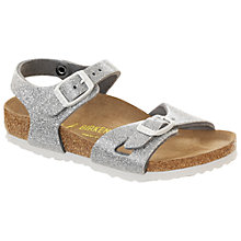 Buy Birkenstock Children's Rio Magic Galaxy Buckle Sandals, Silver Online at johnlewis.com