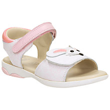 Buy Clarks Children's Wiggle Tail Rip-Tape Sandals, White Online at johnlewis.com