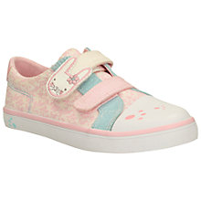 Buy Clarks Children's Gracie Bea Canvas Rip-Tape Shoes, Pink Online at johnlewis.com