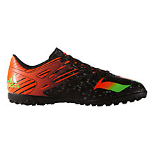 Buy Adidas Children's Messi 15.4 Astroturf Shoes, Black/Multi Online at johnlewis.com