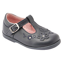 Buy Start-rite Children's Sunflower First T-Bar Shoes, Navy Online at johnlewis.com