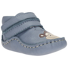 Buy Clarks Children's Baby Flight Small Booties, Denim Online at johnlewis.com