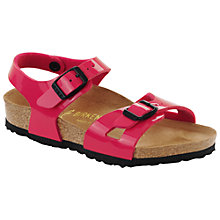 Buy Birkenstock Children's Rio Buckle Sandals, Pink Online at johnlewis.com