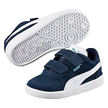 Buy Puma Children's Icra Trainers, Navy/White Online at johnlewis.com
