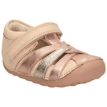 Buy Clark Children's Little Mae Rip-Tape Sandals, Pink Online at johnlewis.com