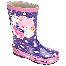 Buy Peppa Pig Garden Party Wellington Boots, Purple Online at johnlewis.com