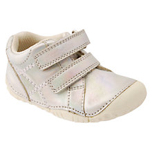 Buy Start-rite Children's Milan Pre-Walker Leather Shoes, Silver Online at johnlewis.com