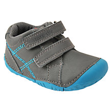 Buy Start-rite Baby Milan Leather Double Strap Shoes, Grey Online at johnlewis.com