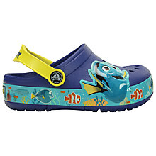 Buy Crocs Children's Crosslights Finding Dory Clogs, Ocean Blue Online at johnlewis.com