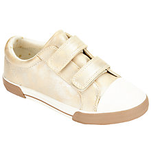 Buy John Lewis Ellie Double Strap Shoes, Gold Online at johnlewis.com