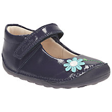 Buy Clarks Children's Little Jam Pre Walker Shoes, Navy Online at johnlewis.com