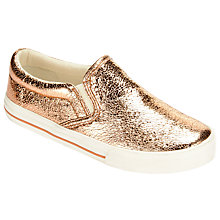 Buy John Lewis Slip-On Trainers, Rose Gold Online at johnlewis.com