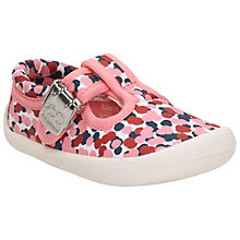 Buy Clarks Children's Choc Cake Buckle Shoes, Pink Online at johnlewis.com