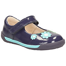 Buy Clarks Children's Softly Jam Mary Jane Shoes, Navy Online at johnlewis.com