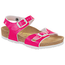 Buy Birkenstock Children's Rio Buckle Neon Sandals Online at johnlewis.com