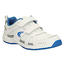 Buy Clarks Cross Zinc Leather Shoes, White Online at johnlewis.com