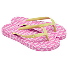 Buy Little Joule Triangle Print Flip Flops, Pink/Yellow Online at johnlewis.com