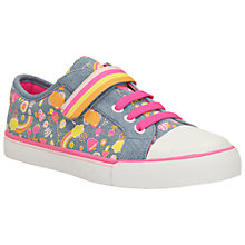 Buy Clarks Children's Brill Doll Canvas Shoes, Denim Online at johnlewis.com